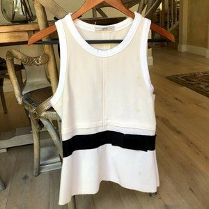 Prada Sleeveless Wool Fitted Career Style Blouse